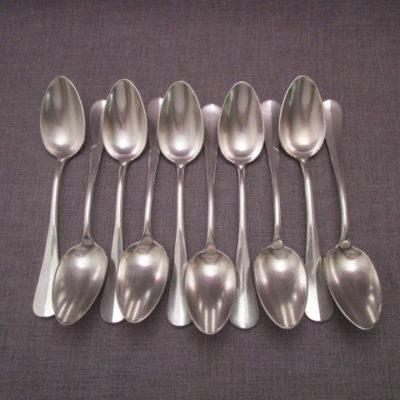 cuillere-soupe-métal argenté