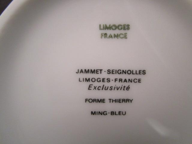 Service A Cafe Porcelaine De Limoges Bleu Et Or Anciennes